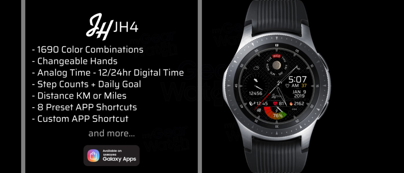 MyGalaxyWatch - Watchface overview: JH4