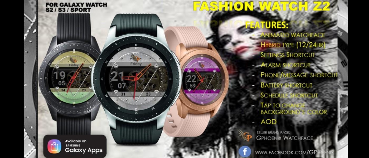 MyGalaxyWatch - Watchface overview: Fashion Watch Z2