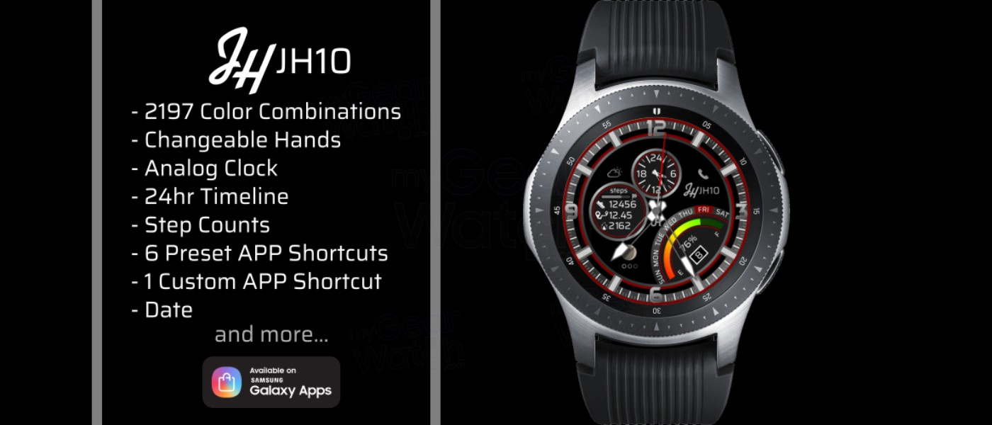 MyGalaxyWatch - Watchface overview: JH10