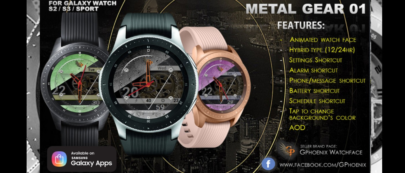 MyGalaxyWatch - Watchface overview: Metal Gear 01