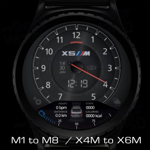 Favoloso MyGalaxyWatch - Watchface overview: BMW M Series IN65